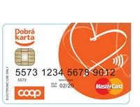 Chtěli byste platební kartu bezběžného účtu? Můžete získat předplacenou platební kartu. Nasnímku předplacená karta COOP.