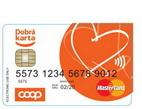 Chtěli byste platební kartu bez běžného účtu? Můžete získat předplacenou platební kartu. Na snímku předplacená karta COOP.