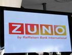 ZUNO Bank je na prodej. Na snímku obrazovka s logem ZUNO.