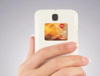 Bezkontaktní platební nálepky. Na snímku bezkontaktní platební nálepka.
