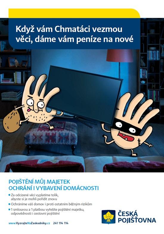 Reklama České pojišťovny napojištění Můj Majetek: Chmatáci