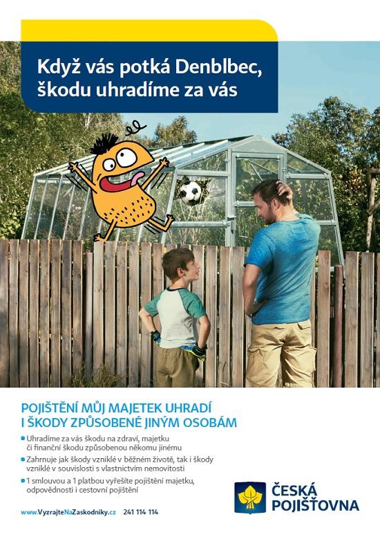 Reklama České pojišťovny napojištění Můj Majetek: Den Blbec