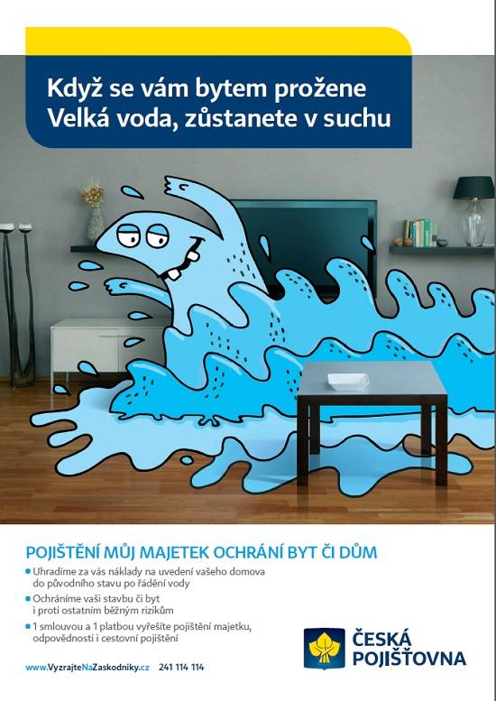 Reklama České pojišťovny napojištění Můj Majetek: Velká voda