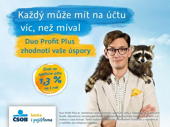 Kampaň naČSOB Duo Profit Plus