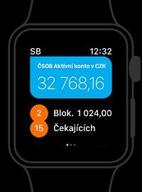 Chytré hodinky - smartbanking