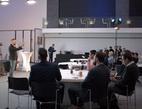 Snímek z konference Čas digitálních týmu, první zleva Aleš Michl