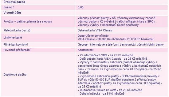 Obrázek: Účet prostudenty odČS