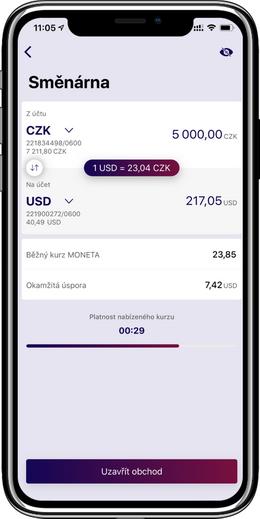 Smart Banka : Směnárna