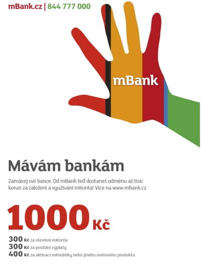 Mávám bankám - mBank láká nové klienty