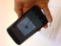 Načítání QR kódu proplatbu mobilním telefonem