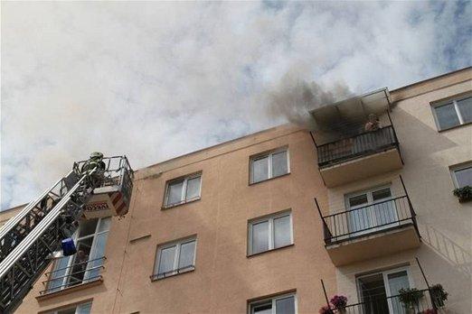 Požár vpaneláku