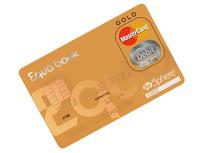 Equa bank začala nově nabízet zlaté platební karty MasterCard. Nasnímku nová zlatá platební karta Equa bank.