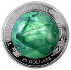 Už víte, čím letos oVánocích obdarujete své blízké? Zkuste pamětní mince. Nasnímku mince Transsibiřská magistrála.
