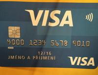 Platební karta - bezkontaktní