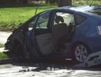 Poškozený automobil po havárii