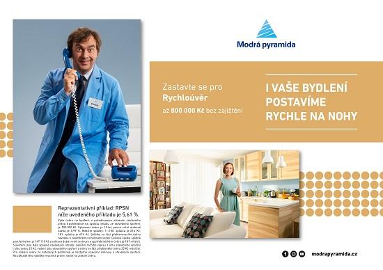 Obrázek 2: Modrá pyramida - Rychlolinka - kampaň