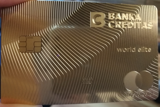 Zlatá karta Banky CREDITAS