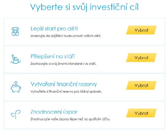 Obrázek 1: Equa bank - on-line investování