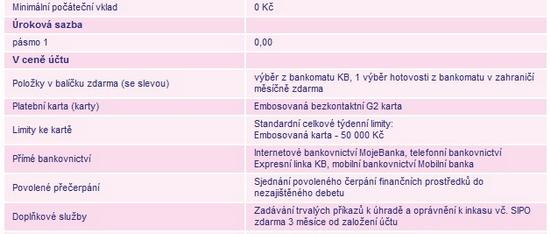 Obrázek: Studentský účet G2 odKB