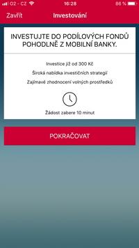 Obrázek: Investování Mobilní banka KB