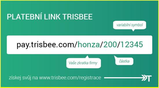 Obrázek: Trisbee platební link