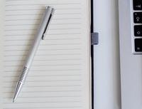 Obrázek: Blok a notebook