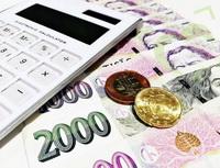 Obrázek: Kalkulačka a mince