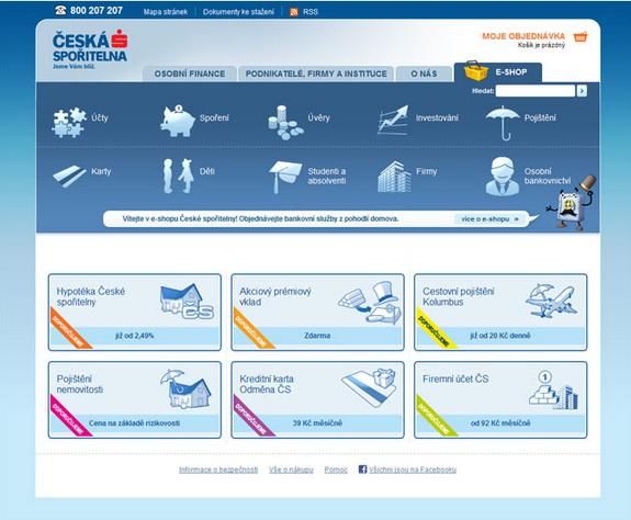 V současnosti je možné přes internetový obchod objednat více než osm  desítek bankovních produktů včetně různých variant. 24532dd4f41